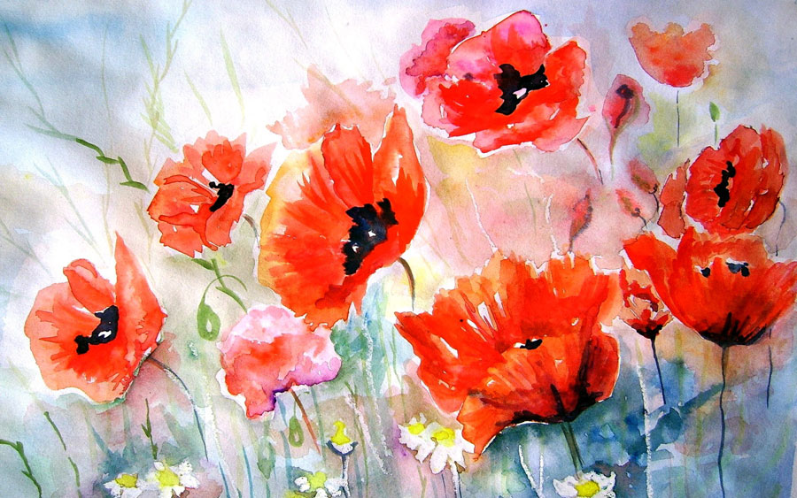 водяные краски используемые для живописи: