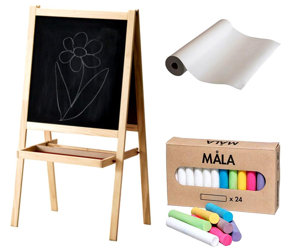 Детская доска для рисования маркером и мелом своими руками