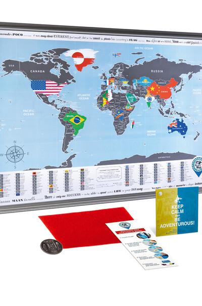 Яркие впечатления всегда с вами! Карта мира (скретч)
