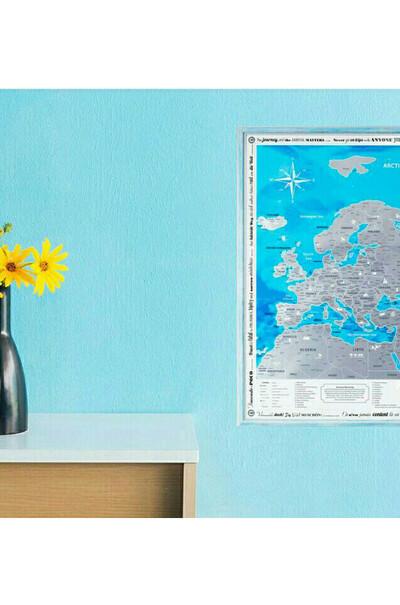 Для украшения интерьера - карта  Европы на английском языке