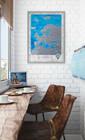 Стильное дополнение для кабинета -карта Европы на английском языке