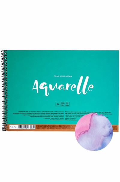 Альбом для акварелі MUSE Aquarelle А4