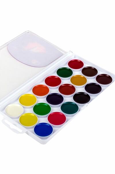 Акварельные краски ГАММА в наборе 18 цветов