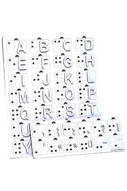 Английская азбука Брайля для поздно ослепших