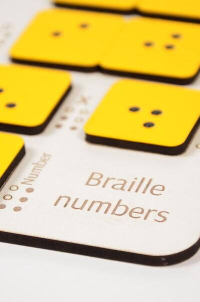 Цифры шрифт Брайля  (арт. CB-D)