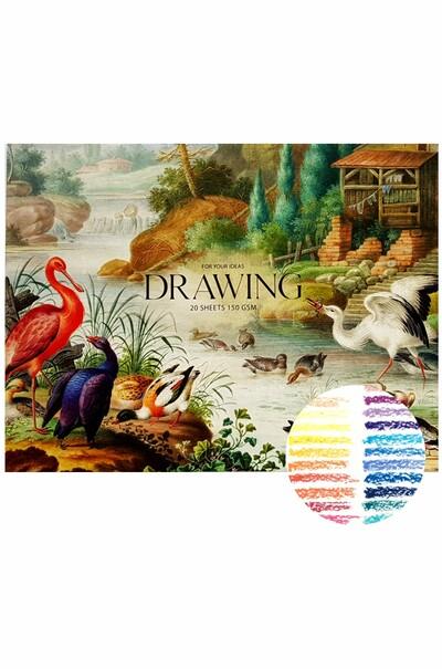 Альбом-склейка для рисования А4 MUSE Drawing