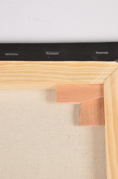 Полотно чорне на підрамнику галерейна натяжка, профіль 45х18  (арт. ВSG-45СН)