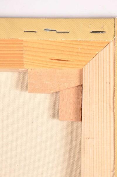 Холст с галерейной натяжкой, цветной.Грунтовка акриловая охра