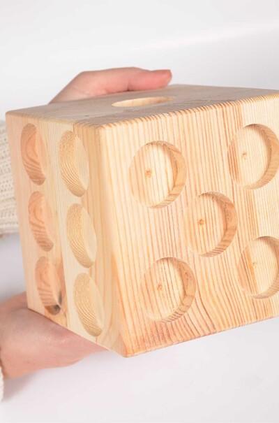 """Подставка с ячейками для свечей """"Куб"""""""
