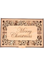 Подарочный набор Merry Christmas на 18 снежинок
