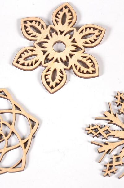 Снежинки из дерева.18 штук в наборе.Подарок на праздник