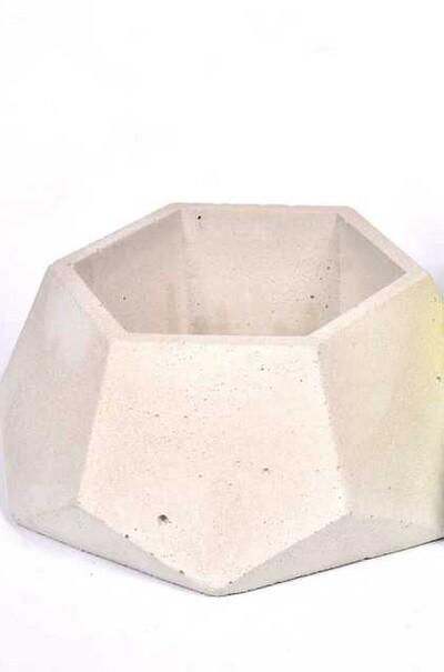 Горшок бетонний Гексагон