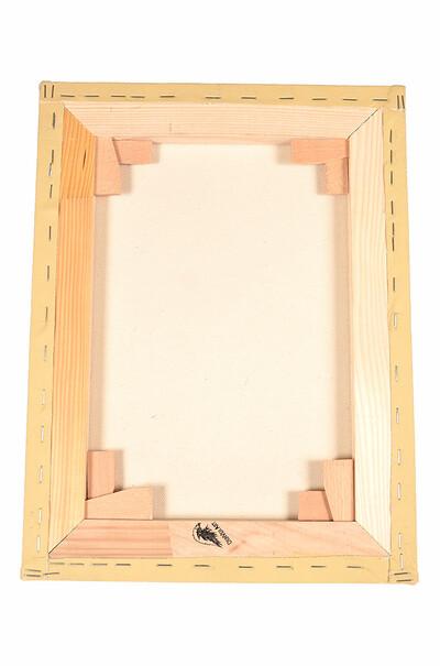 Цветное полотно (охра), галерейная натяжка, грунт -  акрил