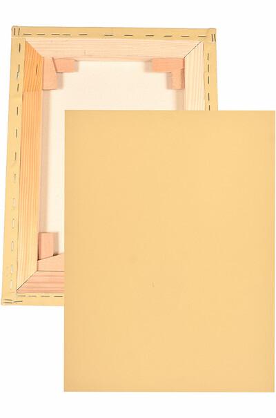 Необычное полотно с грунтовкой цвета охры. Галерейная натяжка