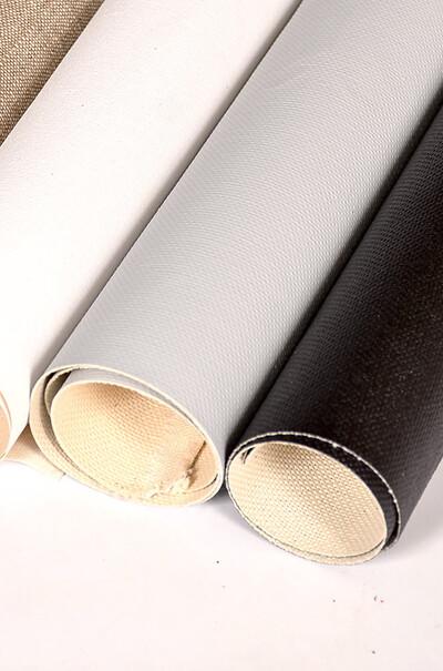 Рулонне полотно із акриловим покриттям кольору охри.