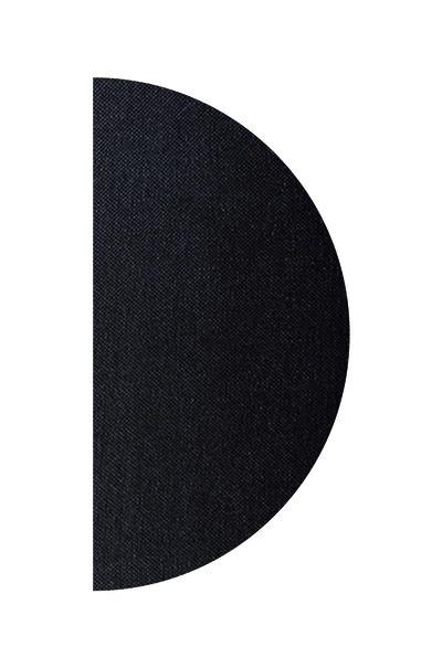 Полотно півколо колір чорний