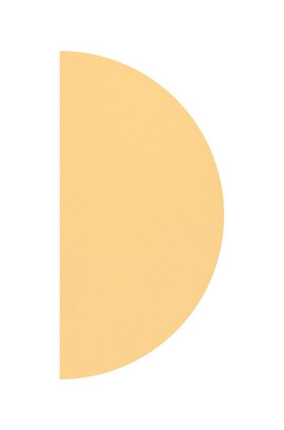 Полотно півколо колір охра