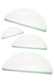 Полукруглые холсты в наборе (хлопок, ср.зерно, белый)