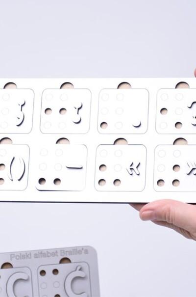 Алфавит Брайля для незрячих на польском