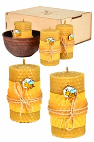 Набір еко-свічки медові