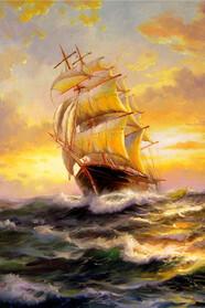 Море, морской пейзаж, корабли