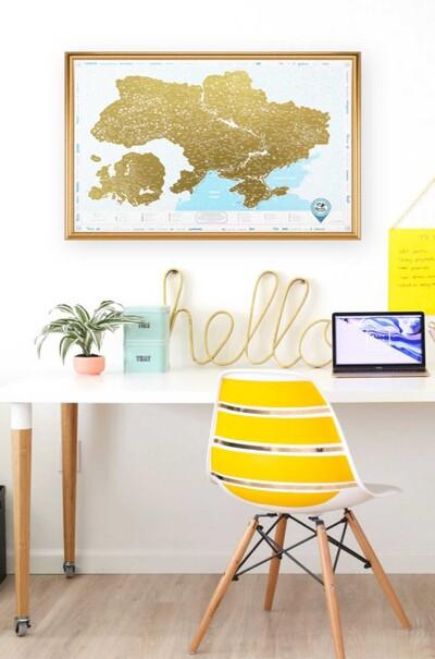 Интересный дизайн, отличное качество-карта Украины стильное украшение вашего офиса