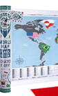 Веселые путешествия-незабываемые впечатления! Новая карта мира FLAGS EDITION