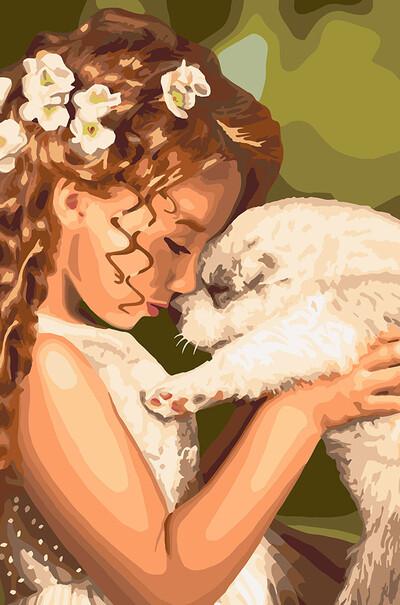 KH2340 Раскраска по номерам  Детская дружба Идейка