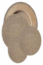 Овальные холсты в наборе (лен, ср.зерно, без цвета)