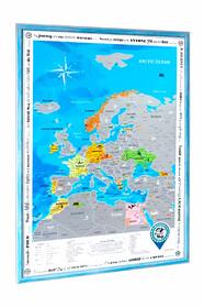 Скретч карта Европы в раме