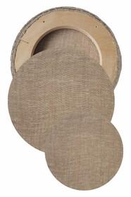 Круглые холсты в наборе (лен, ср.зерно, без цвета)