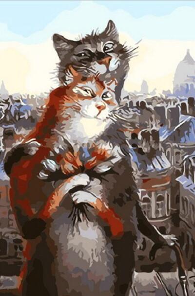 Коты романтики худ. Владимир Румянцев  (арт. MR-Q2075)