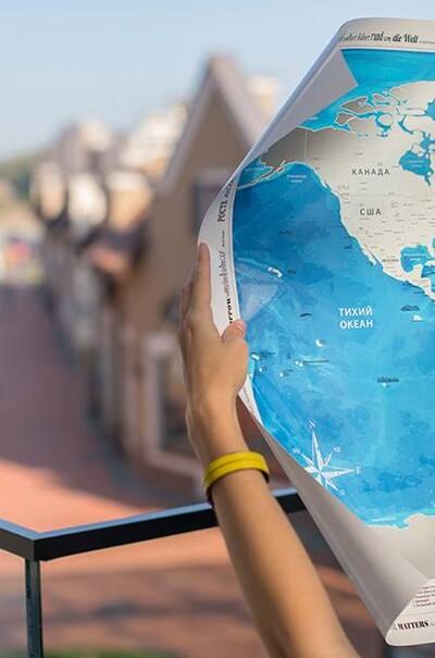Подарунок для мандрівників - карта-скретч