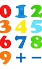 Яркие цифры на магнитах