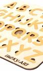 Ефектна англійська абетка для дітей ( дерево під золото)