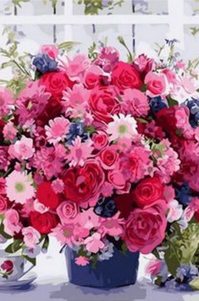 Рожеві хризантеми  (арт. MR-Q1233)