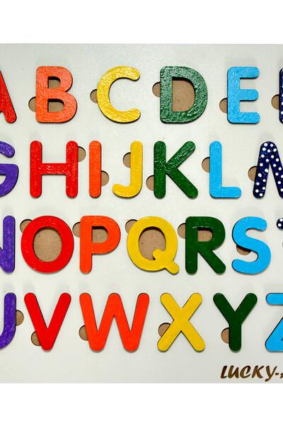 Яркая английская азбука для детей в рамке-вкладыше