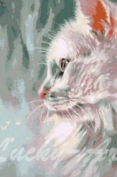 Білий кіт худ. Пол Найт  (арт. MR-Q785)