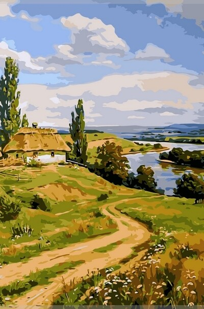 Український пейзаж худ. Орленов Артур  (арт. VP350)