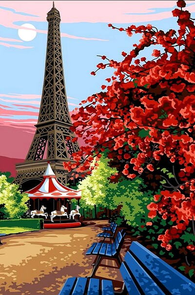 Квітучий Париж  (арт. VK067)