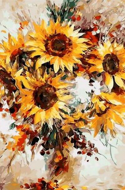 Сонячні квіти худ. Афремов Леонід  (арт. MR-Q1121)