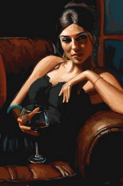 Девушка с бокалом Каберне  (арт. VP891)