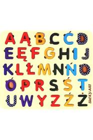 Алфавит польский деревянный цветной