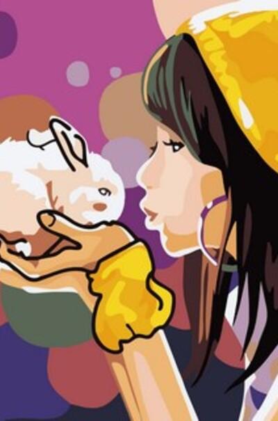 Девочка с кроликом, худ. Донcкис Рихард aka Apofiss  (арт. MR-Q2105)