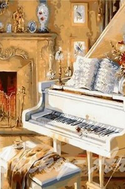 Білий рояль худ. Джуді Гібсон  (арт. MR-Q921)