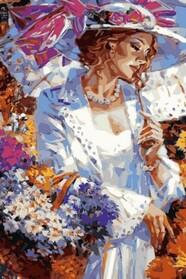 Дама з корзинкою ромашок