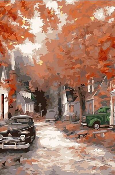 Осінь на кленовій вулиці  (арт. MR-Q2085)