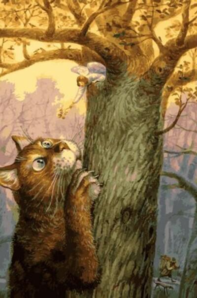 Ангел и его кот, худ. Владимир Румянцев  (арт. MR-Q2128)