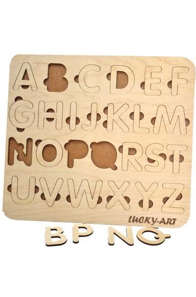 Английская азбука деревянная
