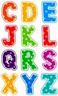 Касса букв английского алфавита для детей младшего возраста